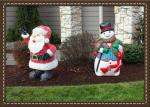 Deborah's Snowman and Santa